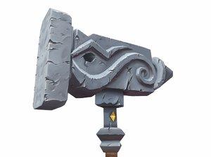 3d model unholy hammer
