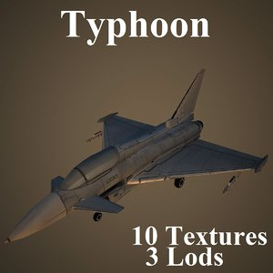 3d model eurofighter typhoon