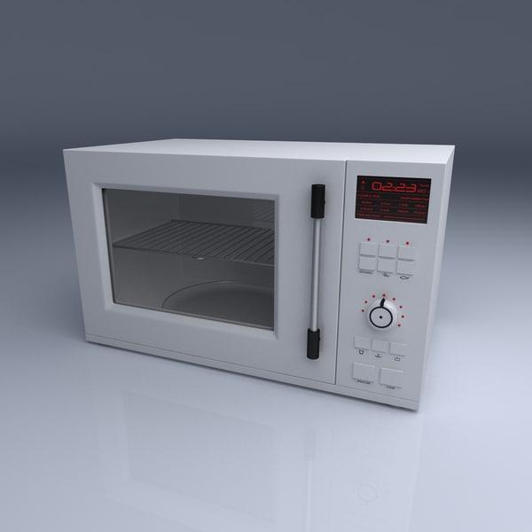 generic microwave 3d model