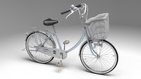 3d model bicycle rigged ready