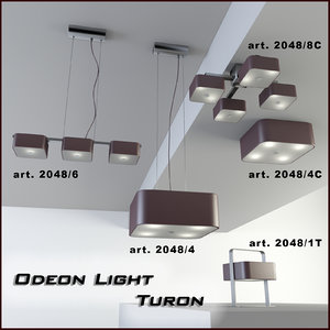 3d model odeon turon pendant lamp