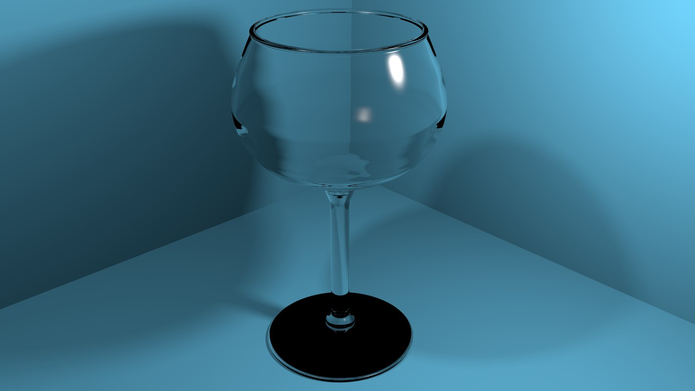 wine glass 3d obj