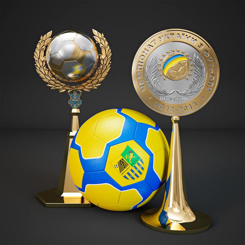 3d football trophy cup