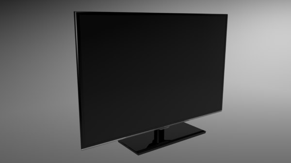 3ds max black slim tv