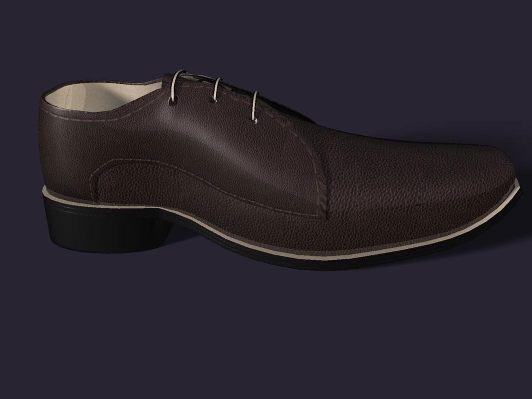 leather shoe 3d ma
