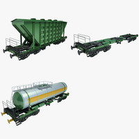 freight wagon 01 train 3d model
