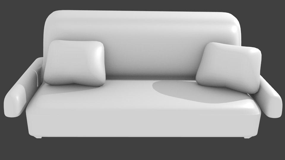3d model sofa pillows non