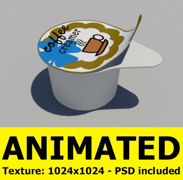 coffee creamer 3d model