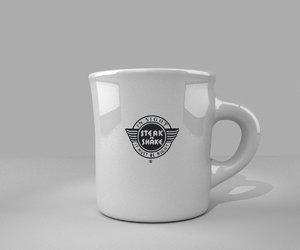 free obj model coffee mug steak-n-shake