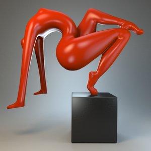 3d sculpture acrobatic stunt