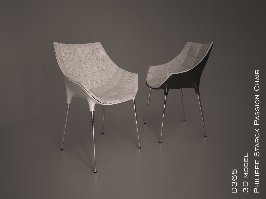 3d philippe starck passion chair model