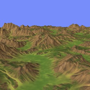 3d model heightmap