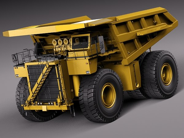 hd truck haul dumptruck 3d model