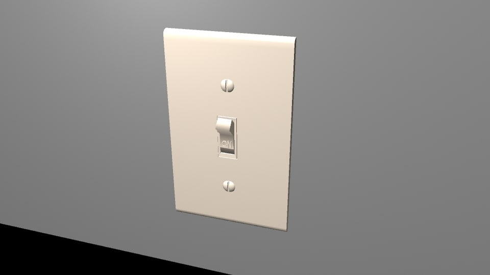 light switch 3d obj