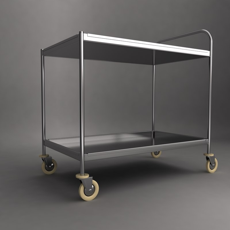 medical instrument trolley 3d model