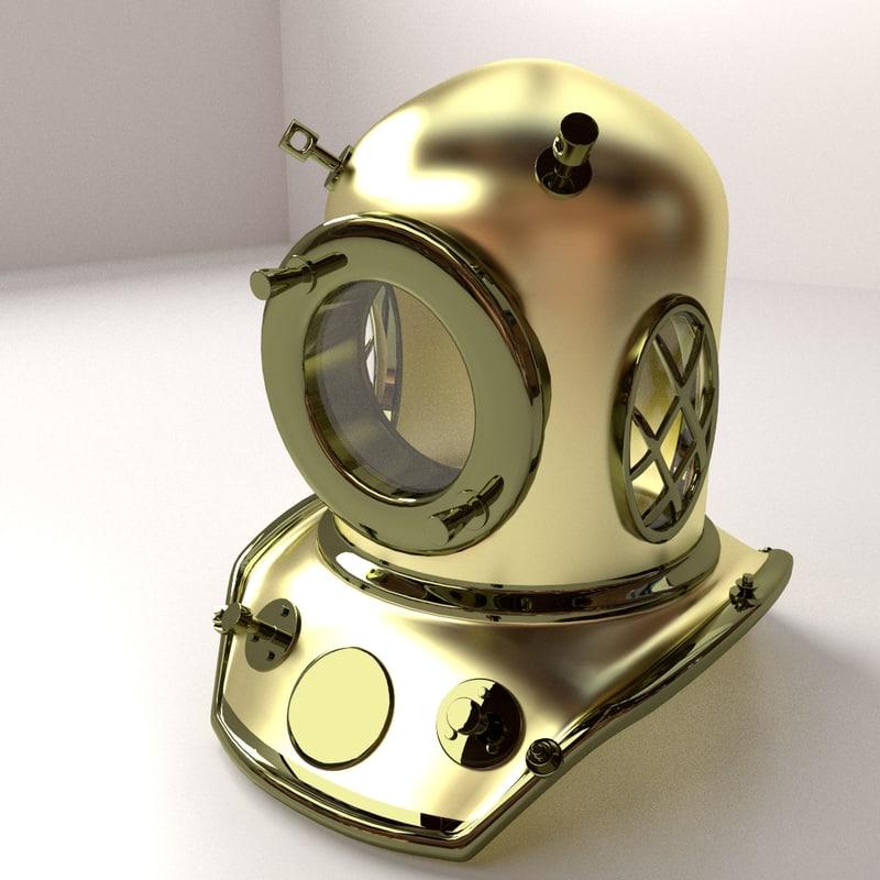 3d model diving helmet