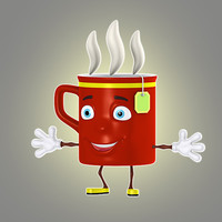 cartoon cup 3d max