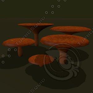 3dsmax fungus russula cartoon