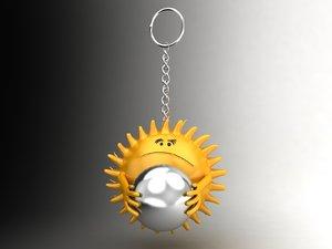 sun smiley 3d max
