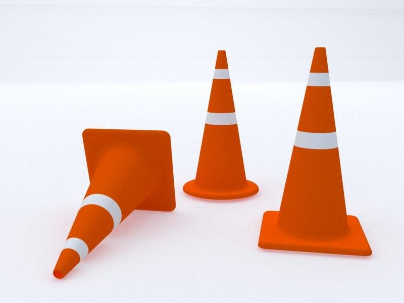 3d model traffic cone