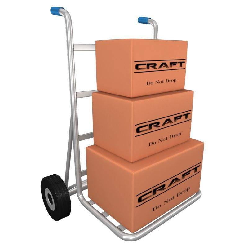 luggage cart 3d ma