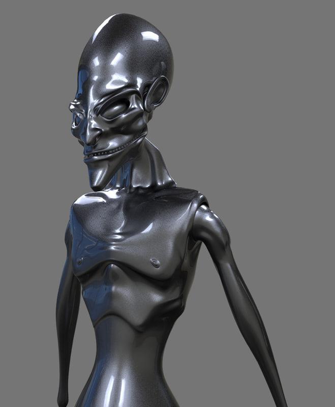 c4d grey alien