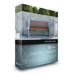 3d model of volume 30 street equipment