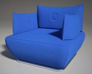 3d model of modular sofa