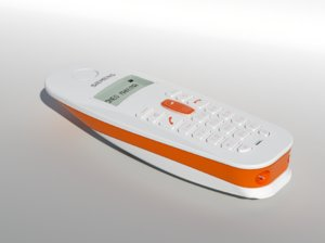 3d model cordless telephone gigaset a38h