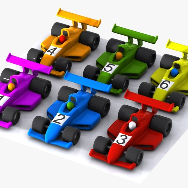 cartoon racing car 3d max