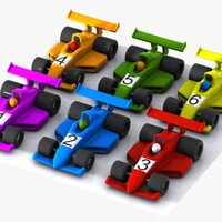 Cartoon Racing Car Collection