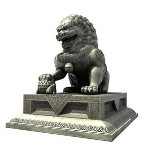 max lion statue chinese