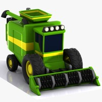 Cartoon Combine Harvester