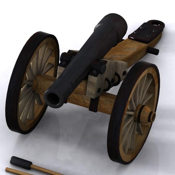 3d model cartoon cannon toon