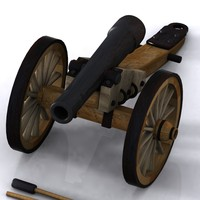 3d model cartoon cannon toon