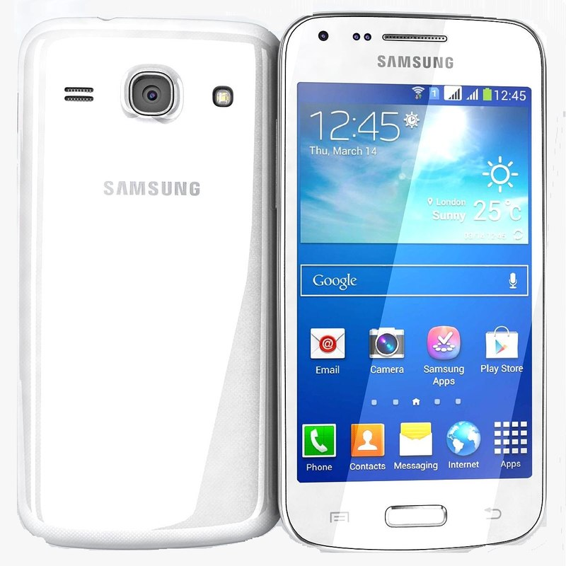 samsung galaxy core white 3d model