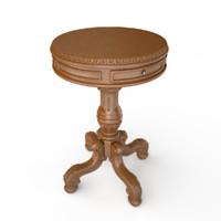 max cortona pedestal table