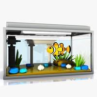fbx cartoon aquarium toon