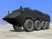 8x8 asv security vehicle 3d model