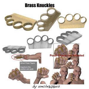 maya poser brassknuckles brass