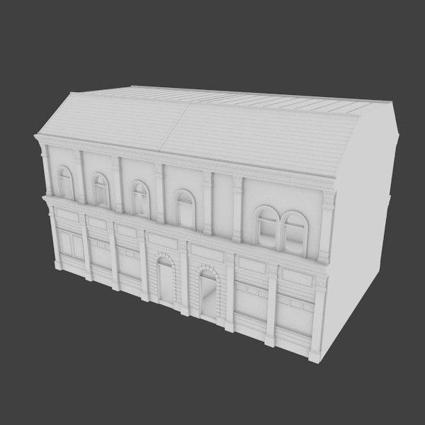 3d building facades interior model