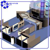 3d model of starship room engineering 2
