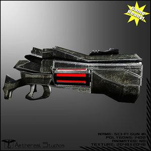 sci-fi weapon 1 3d model