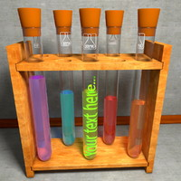 test tube vial 3d c4d