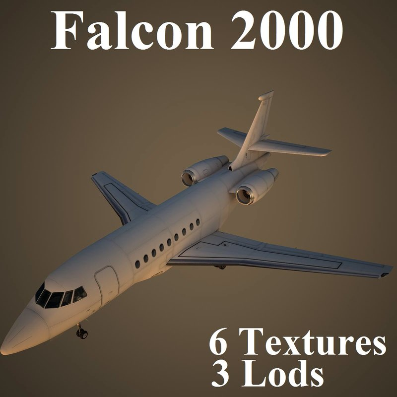 3d model dassault falcon