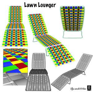 lawn lounger 3d model