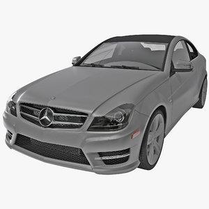 3d model mercedes benz c class