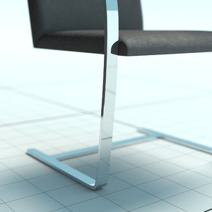 3d model brno chair mies van