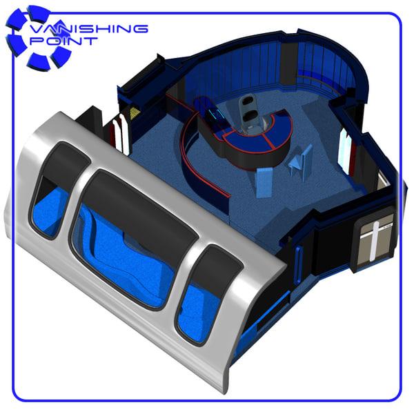starship ready room poser figure 3d model