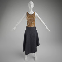 woman clothes- skirt and vest (mannequin not included)